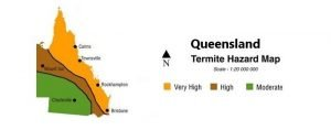 Termite Queensland Map